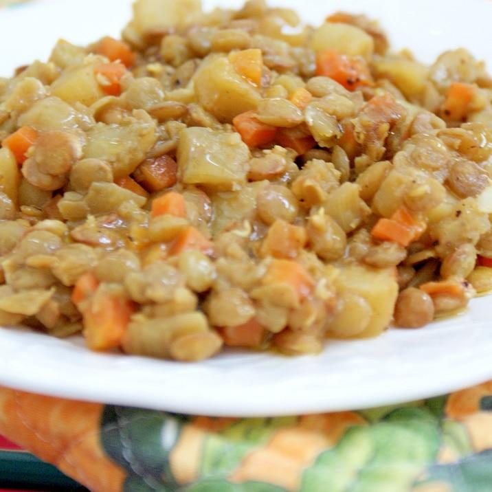 *レンズ豆の煮込み カレー風味*