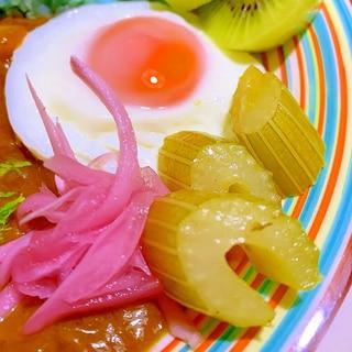 セロリのすっきり柚子胡椒マリネ