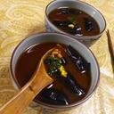 蒸し茄子納豆冷やし辛子味噌汁