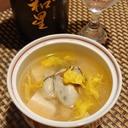 お酒がすすむ、牡蠣と豆腐の菊花餡