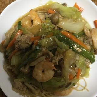 野菜たっぷりあんかけエビ麺