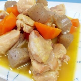 簡単!鶏もも肉+ニンジン+こんにゃくの甘辛煮♪