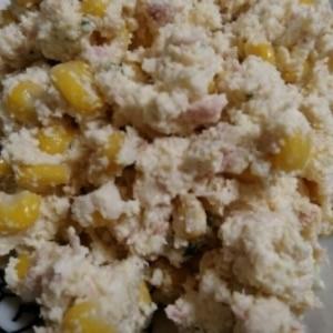 ヘルシー♡生おからと豆腐の和風ポテサラ風サラダ