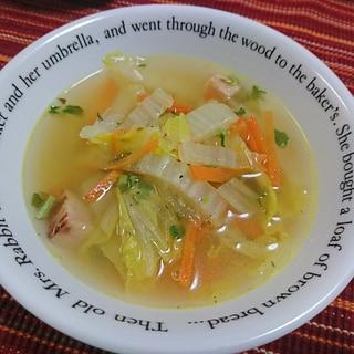 白菜人参ベーコン♥スープ