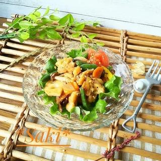 ココナッツ香る*テンペの胡麻油野菜炒め*