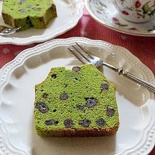 抹茶と甘納豆のケーキ♪
