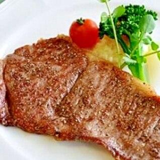 簡単ジューシー!!米沢牛サーロインステーキ