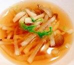 大根としめじの醤油スープ