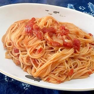 トマトとツナのガーリックスパゲティ