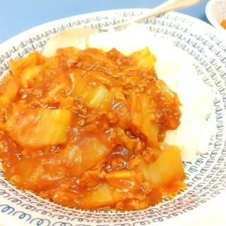 トマトジュースde(^^)白菜と合挽肉のカレー♪