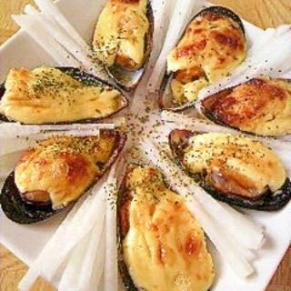 ムール貝のマヨ焼き