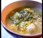 長ネギと豆腐のスープ