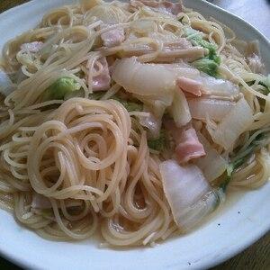 【お鍋一つで】白菜と茸の和風コンソメスープパスタ