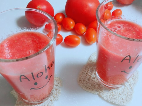 リコピンたっぷりトマトとスイカスムージー♪