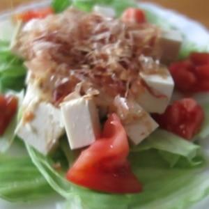 和風豆腐サラダ♪
