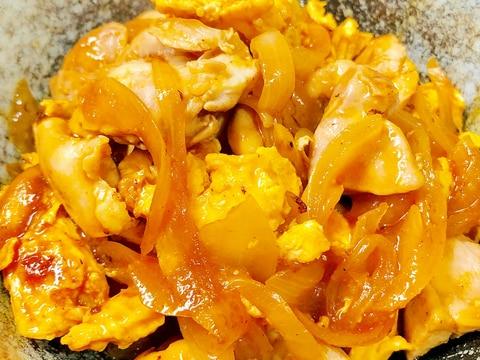 お弁当に!鶏肉と卵の甘酢炒め