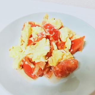 トマトと卵のマヨネーズ炒め