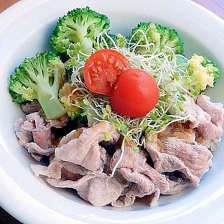 簡単タマネギソースを作って❤豚しゃぶ風サラダ♪