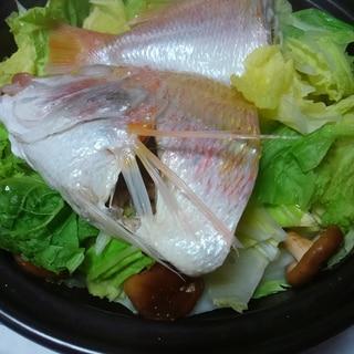 鯛と野菜の酒蒸し