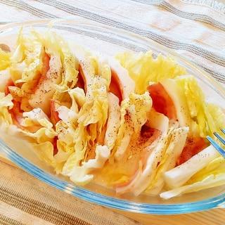 ♪レンジで5分♡白菜とベーコンのミルフィーユ蒸し♪