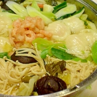 満腹低カロリー!野菜たっぷり海鮮鍋!