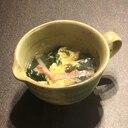 わかめと卵とカニカマの簡単中華スープ