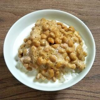 納豆牛乳ご飯
