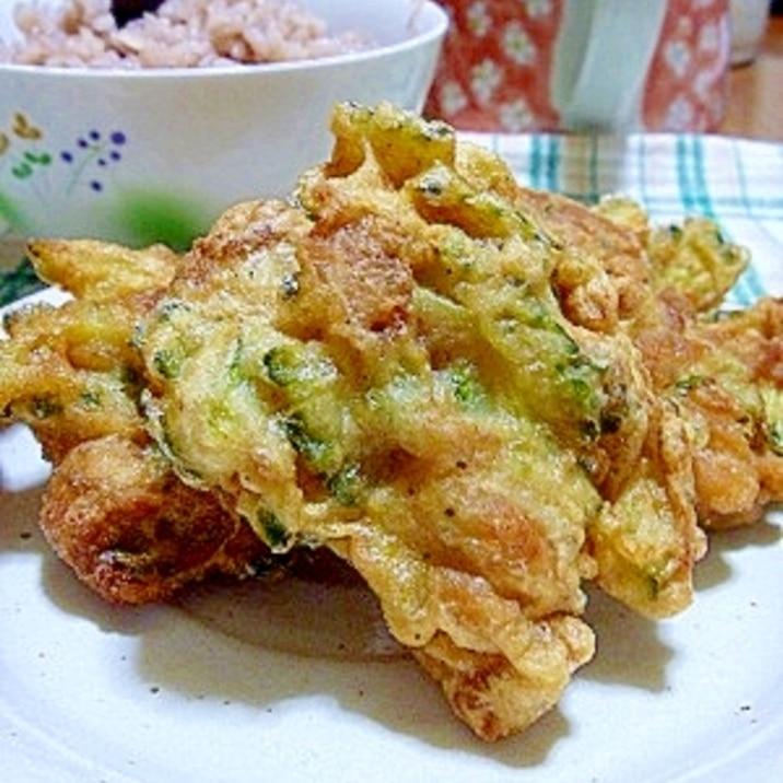 ゴーヤと豚肉の天ぷら