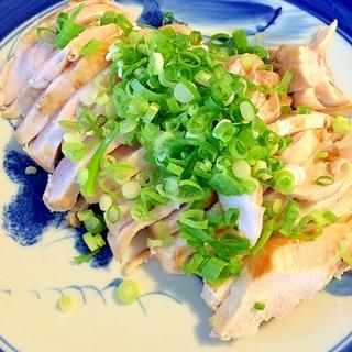 鶏胸肉の☆もっちりたたき