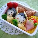 簡単かわいいお弁当のおかず♪花束サラダ!
