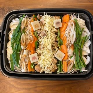 ホットプレート*チーズタッカルビ*野菜たっぷり