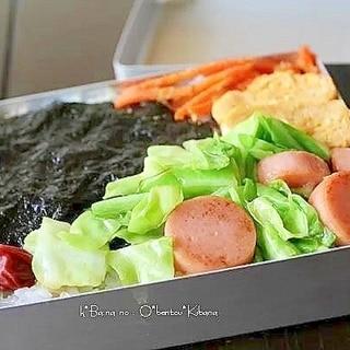 魚肉ソーセージとキャベツ炒め*簡単べんとう