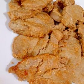 豚ヒレ(豚ヘレ)肉のにんにく味噌マヨ漬けソテー