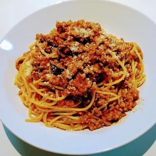 トマト缶詰で簡単♪ボロネーゼパスタ♪