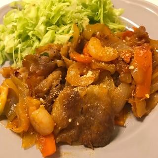 海老と豚肉のマヨケチャップ炒め