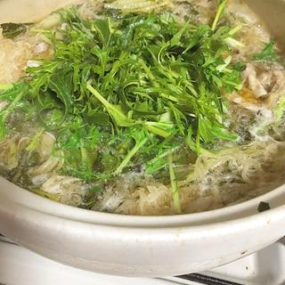 大根と豚バラの水菜鍋