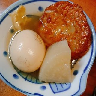 玉子と大根と玉ねぎ天の煮物