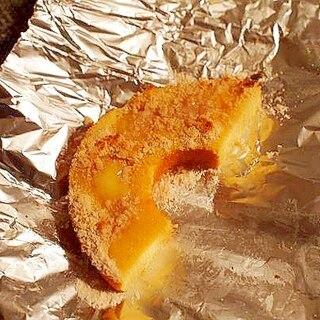 バターと白いココアで焼きバームクーヘン