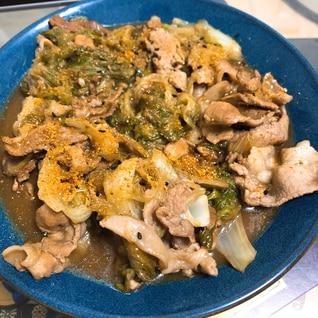 豚肉とレタスのうま煮