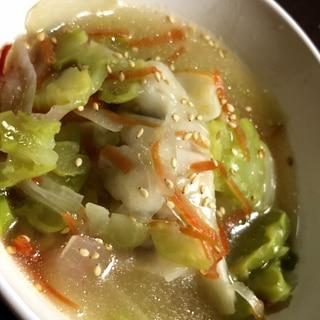 電子レンジで作る*餃子スープ