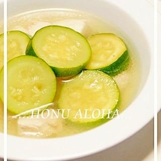 ズッキーニと鶏肉のスープ