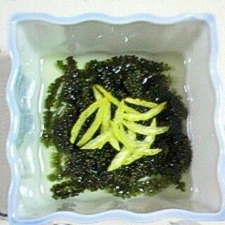 海ぶどうの酢の物