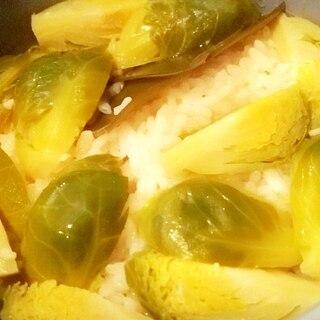 芽キャベツの炊き込みご飯