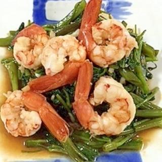 空芯菜と海老の炒め物