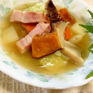 カラダ温まる!生姜とコンソメ野菜のスープ