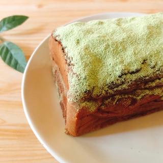 抹茶プロテインチョコレートケーキ