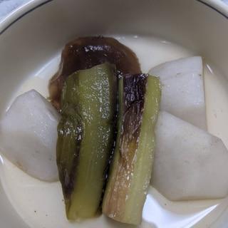 里芋とナスの煮浸し