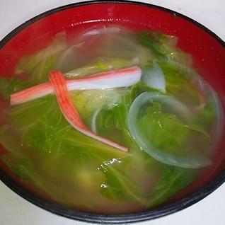 簡単♪レタスとカニカマのスープ