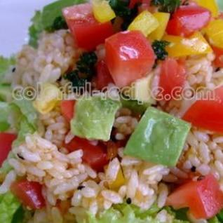 食べるラー油でおもてなしライスサラダ