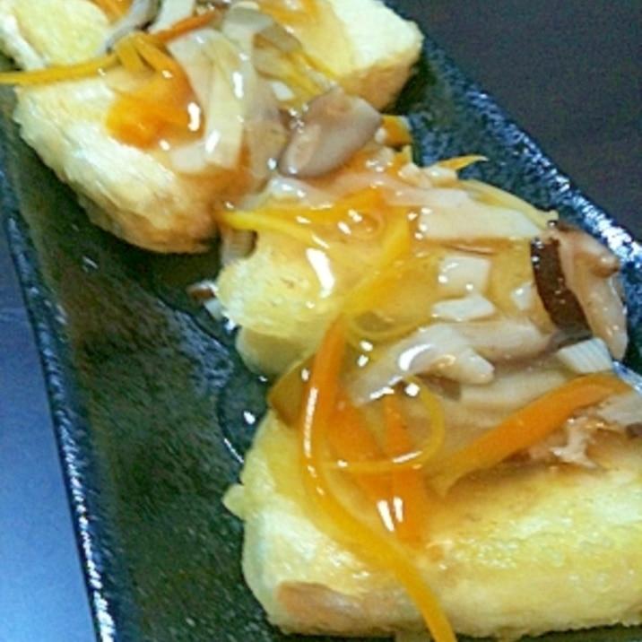☆やっぱり和食が好き!揚げ出し豆腐の甘酢あんかけ☆